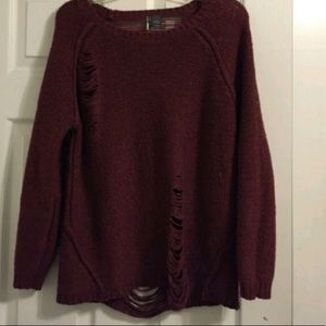 Urban outfitters- sun & shadow - maroon sweater